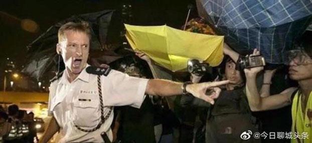 在反送中运动出任速龙小队总指挥的英籍总警司庄定贤日前已被提升。(微博图片)