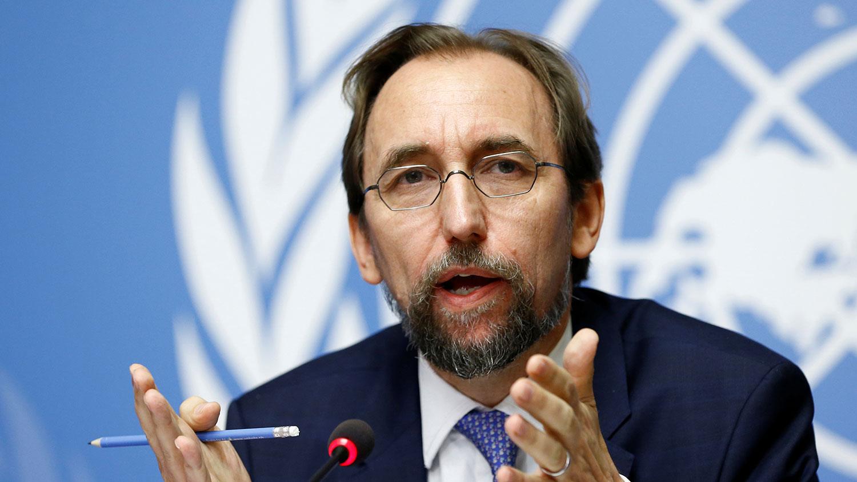 联合国前人权事务高级专员扎伊德侯赛因。(路透社)