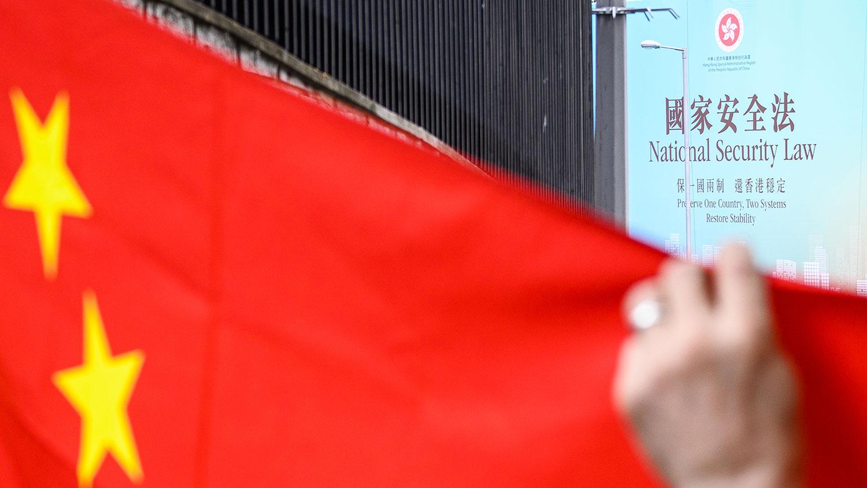 """中国全国人大常委会自周日(28日)起审议""""港版国安法"""",预计会在周二(30日)上午进行表决。(AFP)"""