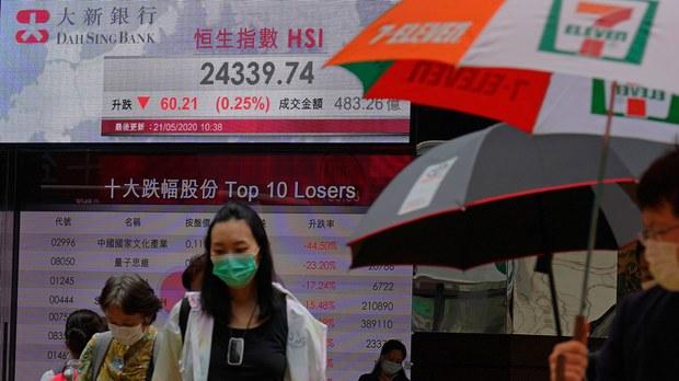 香港股市大跌掀新一轮撤资潮(美联社)