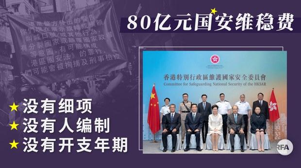 香港国安拨款达80亿港元  开支细节公众一无所知