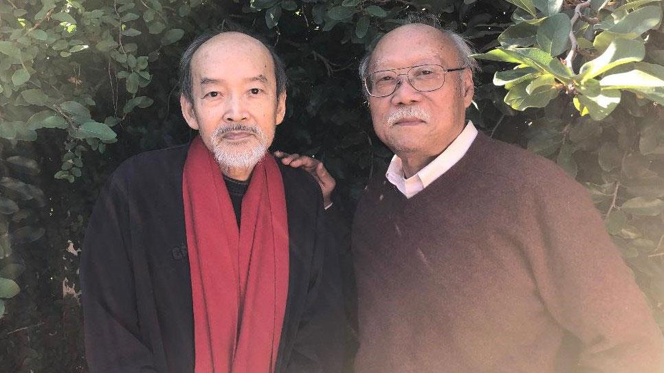 """""""刘宾雁良知奖""""评选委员会共同召集人(左至右)王康、郑义(CK摄)"""