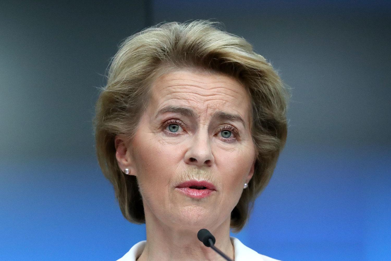 """欧盟执委会主席范德赖恩(Ursula von der Leyen )谴责""""中国强行通过港版国家法,将会引发非常负面的后果,包括影响商业信心,中国的国家荣誉,以及公众舆论的观感。(AFP)"""