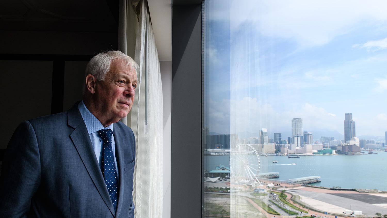 前香港总督彭定康(Chris Patten)指出,落实港版国安法,有如扼杀香港的法治,正呈现出中国法律与香港的普通法制度有重大冲突。(AFP)