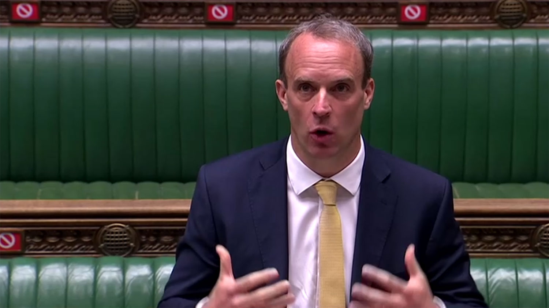 英国外交大臣拉布( Dominic Raab                                                                                                                                                                                                                                                                                                                                                                                                                                                                                                                                                                                                                                                                                                                                                                                                                                                                                                                                                                                                                                                                                                                                                                                                                                                                                                                                                                                                                                                                                                                                                                                                                                                                                                                                                                                                                                                                                                                                                                                                                                                          