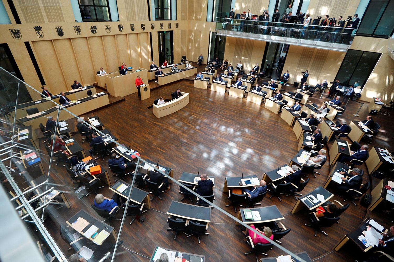 2020年7月3日,德国总理默克尔(Angela Merkel)在联邦参议院发表讲话。(路透社)