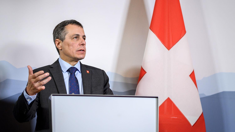 瑞士外長卡西斯(Ignazio Cassis)8月初曾罕見表態,稱中國已背離改革之路且嚴重侵犯人權,瑞士必須藉由強化國際法及多邊體系等方式,更加堅定地捍衛自身利益與價值觀。(法新社)