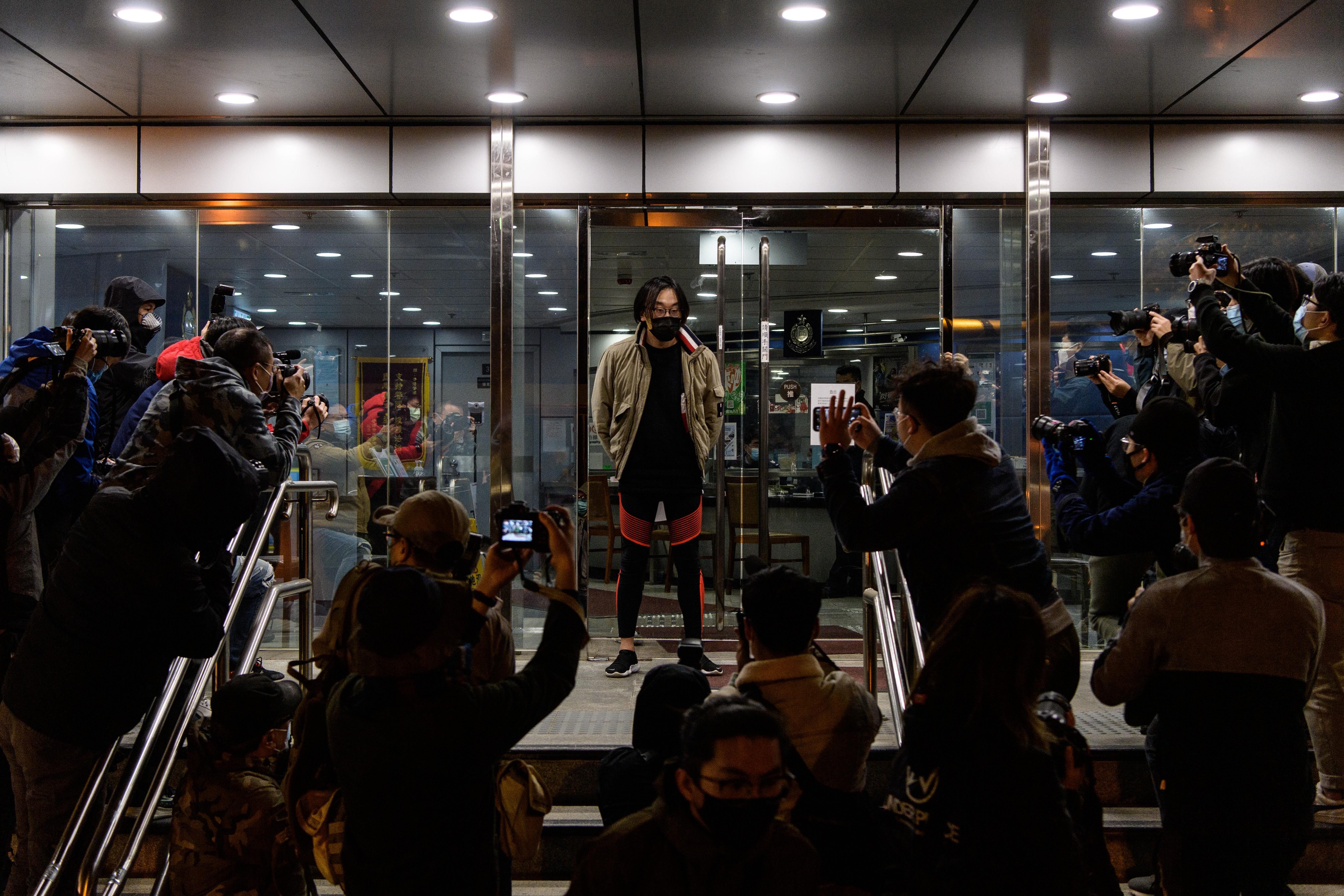 林景楠获得保释。(AFP)