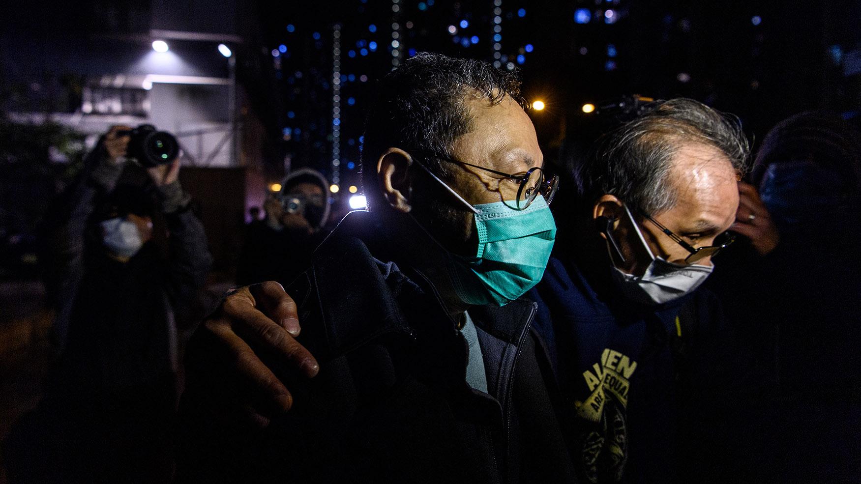 戴耀廷获得保释。(AFP)