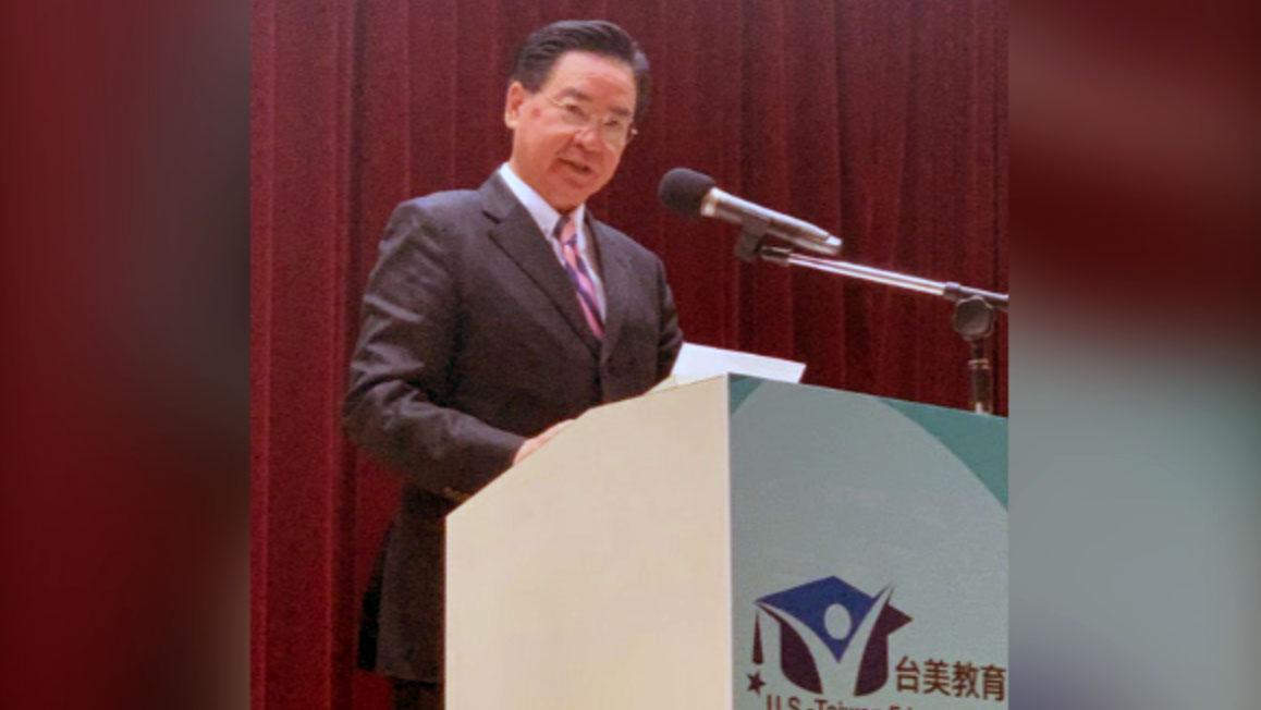 臺灣外交部長吳釗燮。(記者 黃春梅攝)