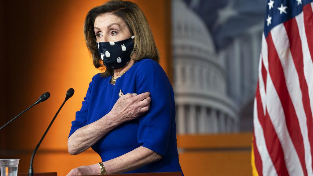 衆議院議長佩洛西(Nancy Pelosi)表示不應讓經濟矇蔽道德與正義,應支持美國不分黨派爲香港人民發聲。(AP)