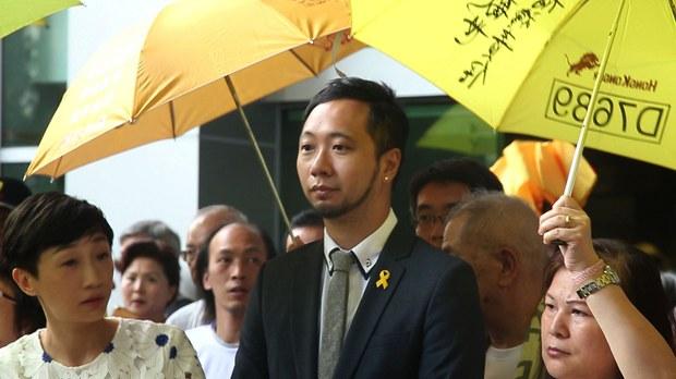 公民党成员曾健超在运动中涉嫌涉嫌袭警和拒捕遭起诉。(陈槃摄影)