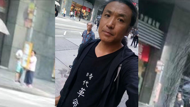两个月前,刘红志(图)亲自到香港声援反送中运动。(欧彪峰脸书图片,拍摄日期不详)