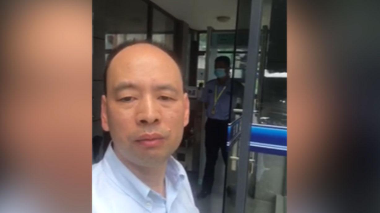 2020年9月4日, 律师卢思位(图)到深圳盐田看守所试图会见其中一名偷渡港人, 但徒劳无功。(卢思位独家提供)
