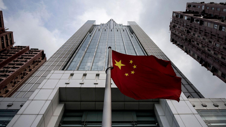 资料图片:香港中联办大楼。(法新社)