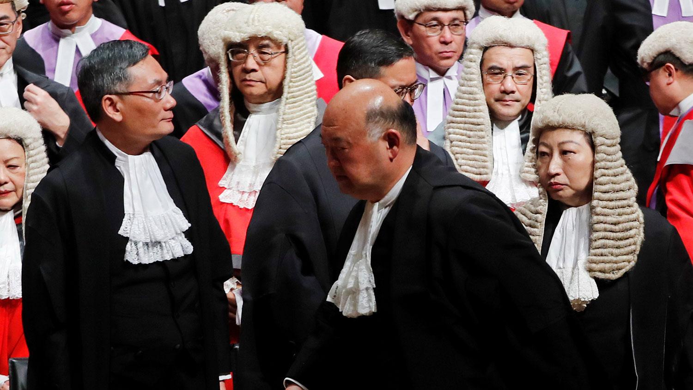 图为2020年1月13日,2020年香港法律年度开启典礼在中环大会堂举行。(路透社图片)