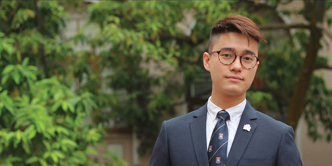 香港大学学生会署理会长黄程锋。(图源:facebook/WONG Davin Kenneth - Nominee for one UG Student in HKU Council)