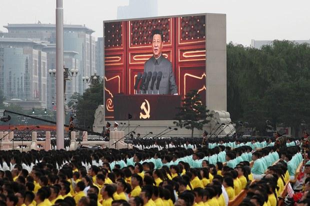 习近平在中共百年党庆谈话中提及台湾问题(路透社图片)