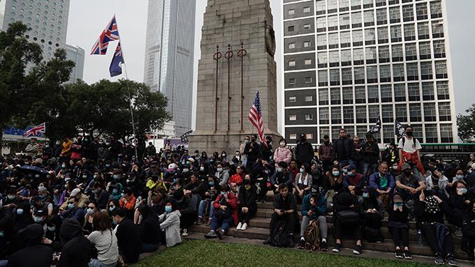 2020年1月19日,部分民�\�^�m在香港街�^抗�h。(美�社)