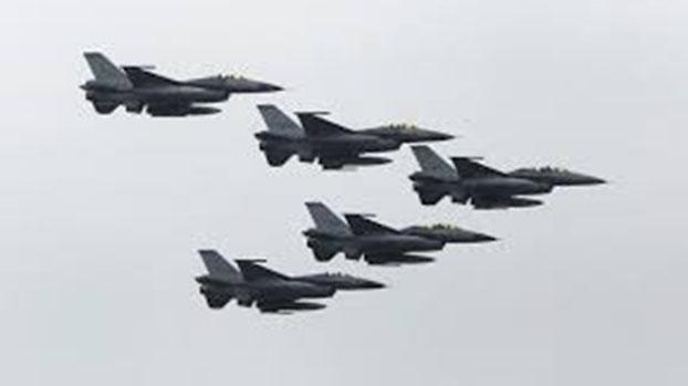 国军F-16战机编队。(路透社资料照片)