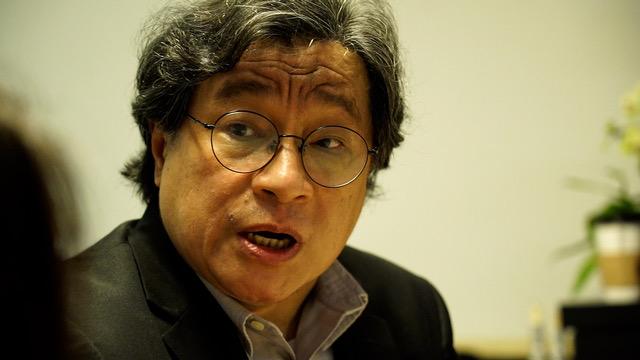 中研院台湾史研究所副研究员吴叡人提出若港澳条例停止适用,该另立难民法。(记者 李宗翰摄)