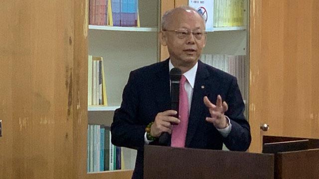 永丰金控首席经济学家黄荫基对中国走出谷底表示乐观。(记者 黄春梅摄)
