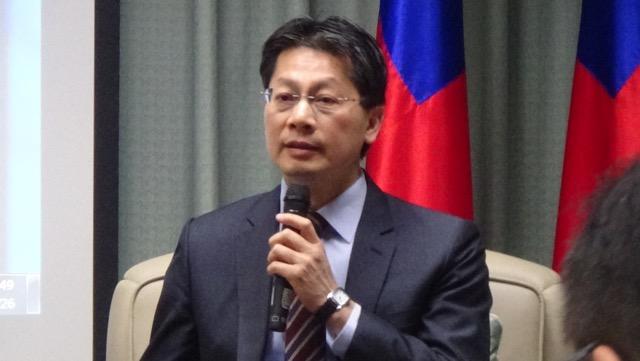 台湾外交部发言人李宪章。(记者 黄春梅拍摄)