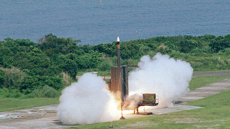 弓三垂直发射架飞弹发射。(截图自中科院官网)