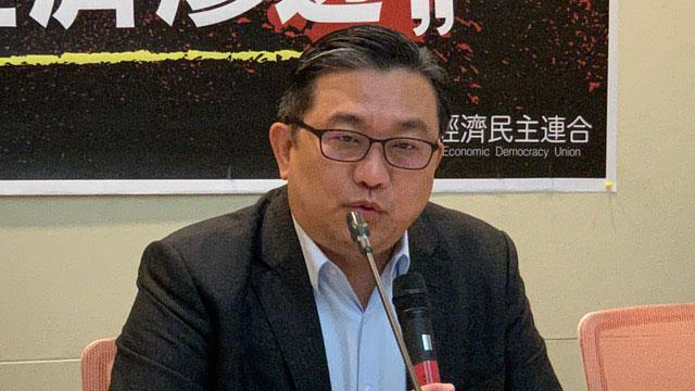 民进党立委王定宇认为干净的供应链、干净的网络,没有模糊空间。(记者 黄春梅摄)