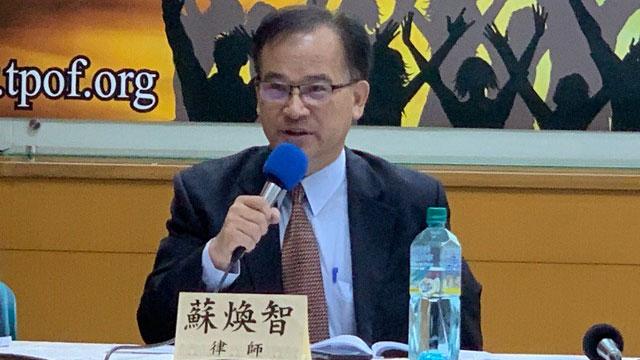 前台南县长苏焕智认为,美选结果攸关台湾未来前途。(记者 黄春梅摄)