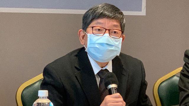 台湾前陆委会副主委林正义称台海机会与挑战并存。(记者 黄春梅摄)