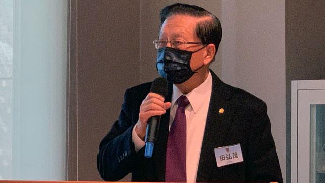 台湾前海基会董事长田弘茂透露别假设两岸没对话。(记者 黄春梅摄)