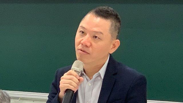 中山大学中国与亚太区域研究所教授郭育仁指出,中共《海警法》给日本当头棒喝。(记者 黄春梅摄)