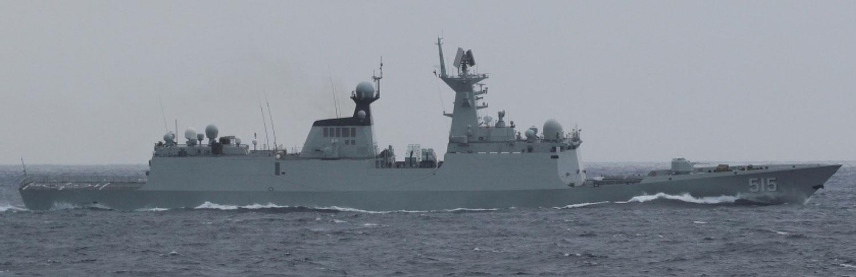 """中共海军054A飞弹护卫舰""""滨州舰""""。(维基百科)"""