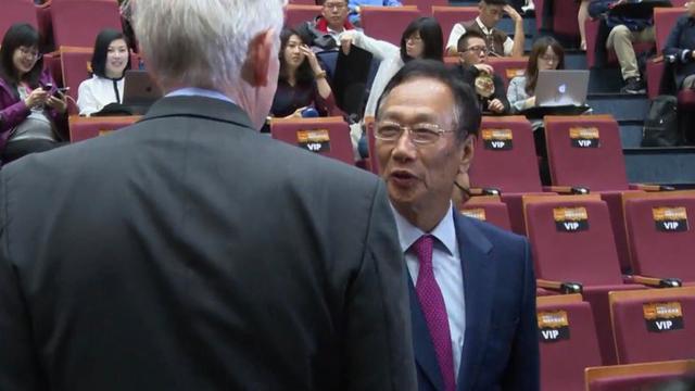 鸿海董事长郭台铭出席《台湾关系法》40周年座谈会。(记者 李宗翰摄)
