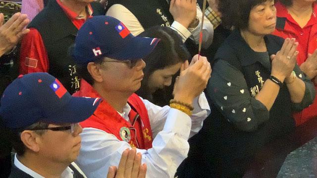 郭台铭称台湾海神妈祖托梦要他出来参选。(记者 黄春梅摄)