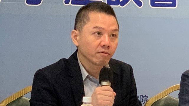 """国策院执行长郭育仁提出未来可能有""""四方安全对话(Quad)+T台湾(Taiwan)""""。(记者 黄春梅摄)"""