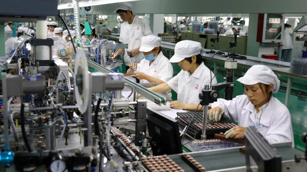 根据中国统计局27日公布最新数据显示,一季度工业企业实现利润同比下降36.7%,外商及港澳台商投资企业实现利润总额,更是大幅下滑近五成(46.9%)。(法新社资料图片)