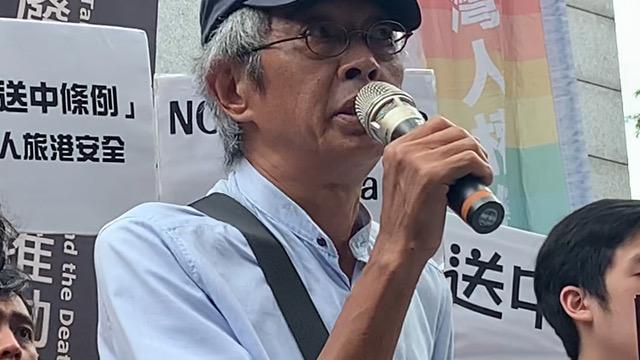 香港铜锣湾书店前店长林荣基忧心香港上演流血事件。(记者 黄春梅摄)