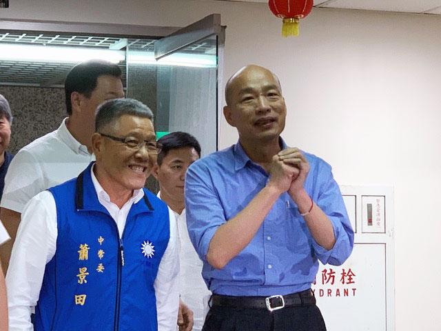 韩国瑜以大幅度领先四位国民党内对手胜出。(记者 黄春梅摄)