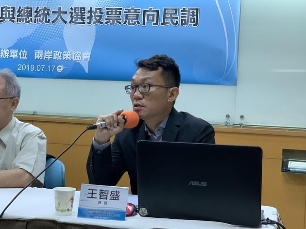 两岸政策协会秘书长王智盛表示,世代将是2020总统大选隐藏变数。(记者 黄春梅摄)