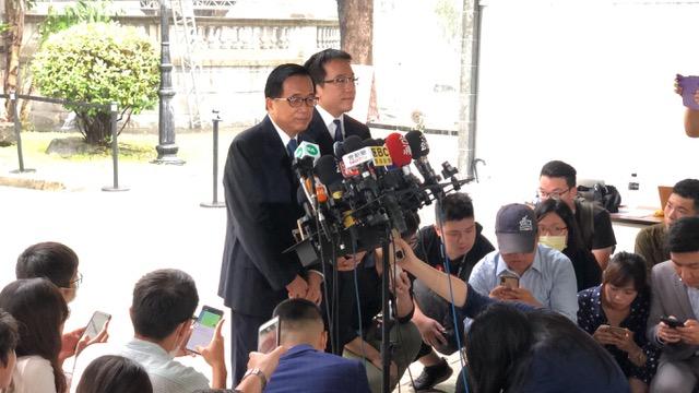 前总统陈水扁赴台北宾馆吊唁。(记者 李宗翰摄)
