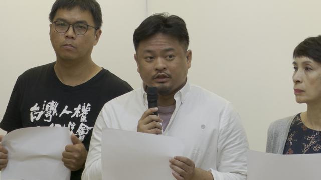 民进党立委洪申翰忧心香港成为北京出气口。(记者 李宗翰摄)