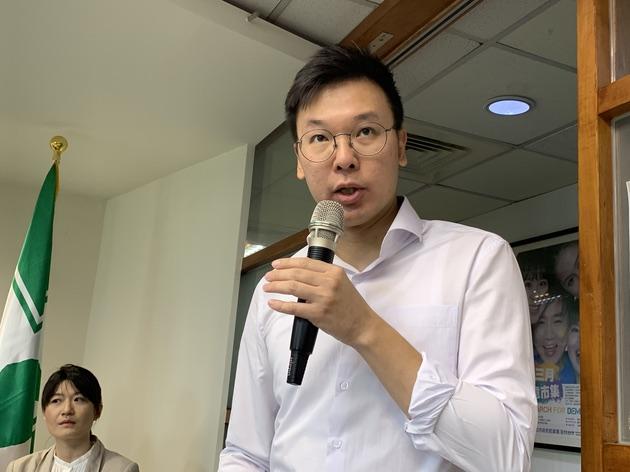 民进党副秘书长林飞帆称,北京已经是实质镇压。(记者 黄春梅摄)