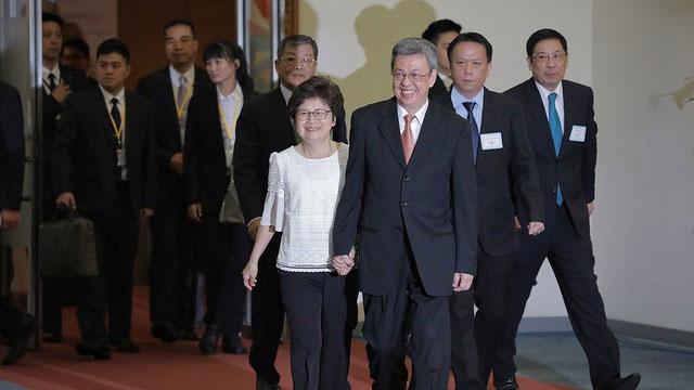 台湾副总统陈建仁启程赴罗马教廷访问。(总统府提供)