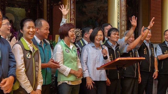在台湾的总统蔡英文22日首次对陈同佳案表达看法。(总统府提供)