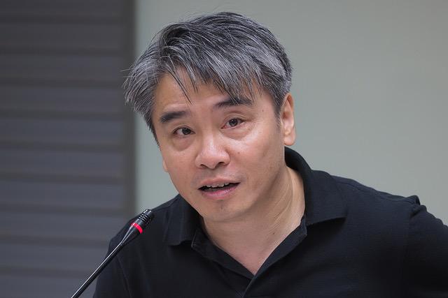 台湾政治大学法律学系副教授廖元豪称,行政上拒绝入境,等于阻断司法追诉。(记者 黄春梅摄)