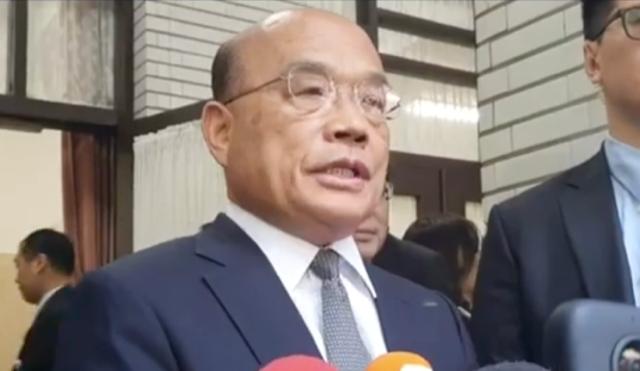 行政院长苏贞昌宣示死刑判决定谳就该执行。(资料照,行政院提供)
