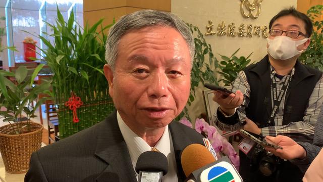 前卫生署长杨志良说习近平脑袋不清楚。(记者 黄春梅摄)