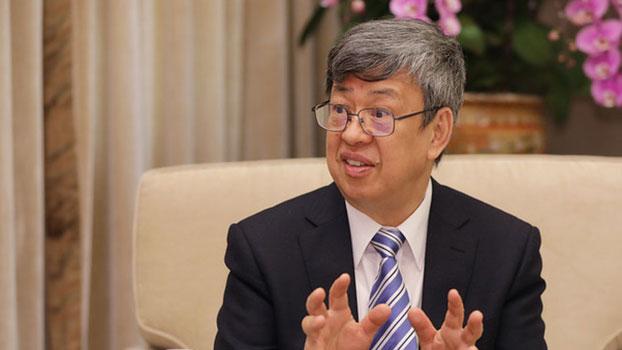 """在台湾的副总统陈建仁26日接受""""日本产业经济新闻社""""专访。(总统府提供)"""